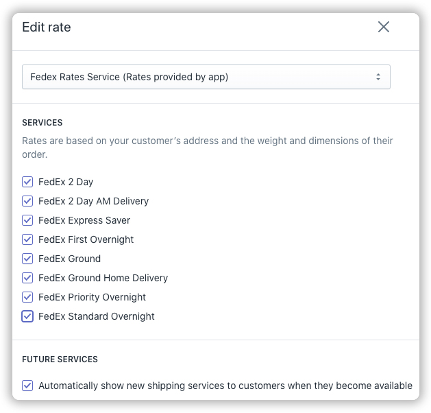 Enable-FedEx-services-under-Shopify
