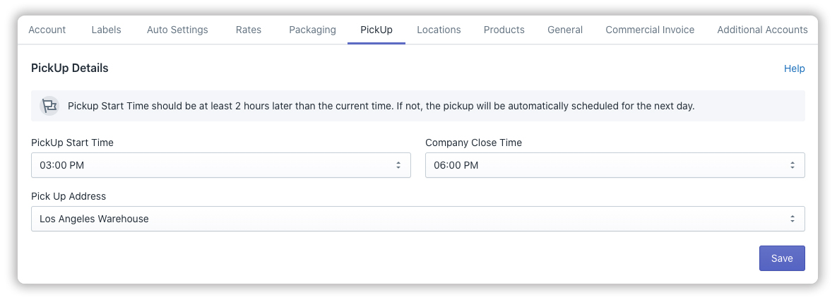 FedEx-Pickup-settings