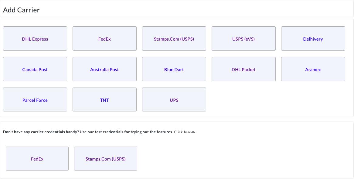 Fedex test account