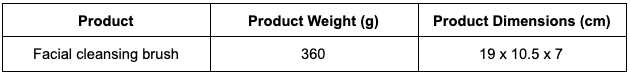 Product weight & dimensions