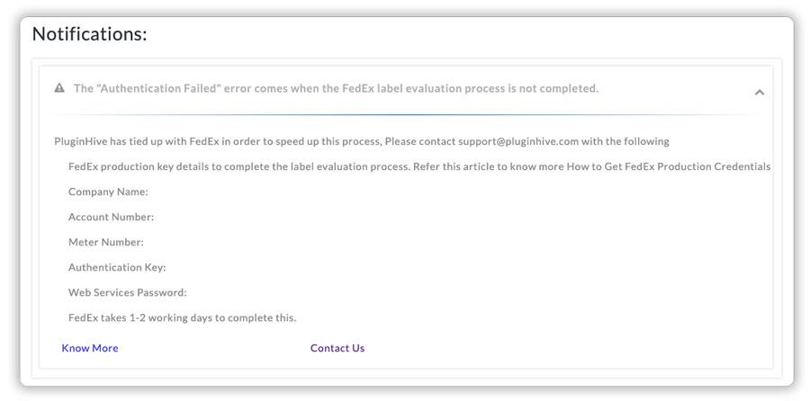 FedEx-authentication-failed