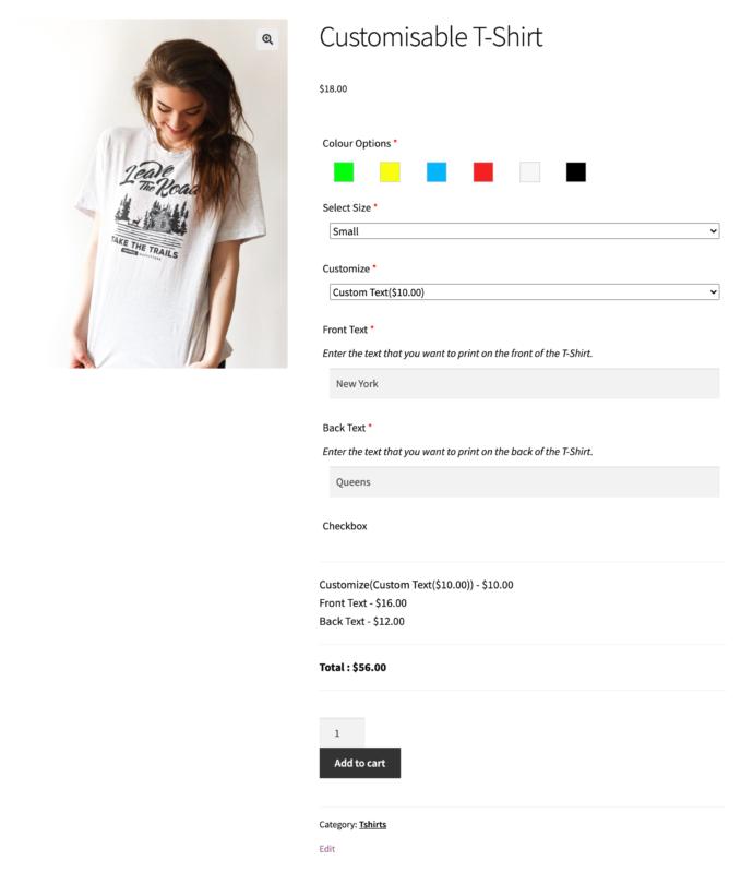 customizable tshirts