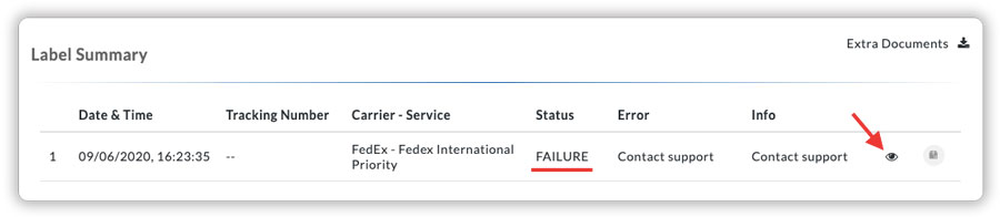 label-failed-xml-response