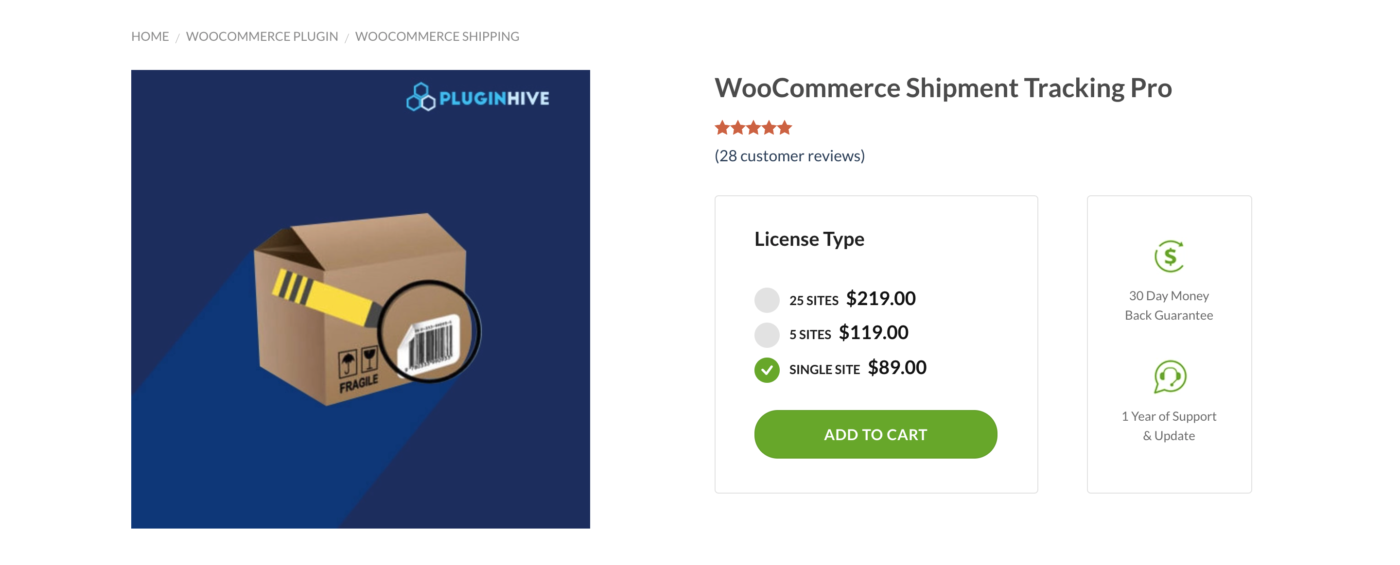 woocommerce shipment tracking prices