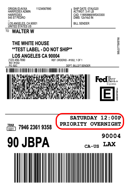 FedEx-saturday-delivery-label
