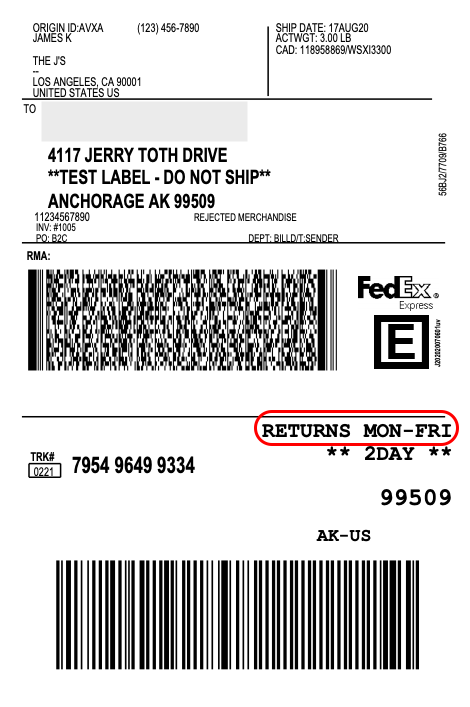 FedEx-saturday-return-shipping-disabled