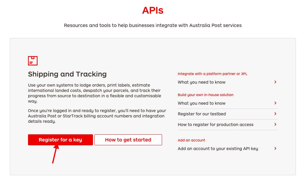 Register for an API key