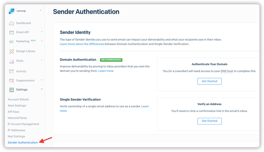 SendGrid-Sender-Authentication