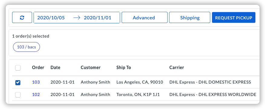 request-dhl-pickup-from-woocommerce-dashboard