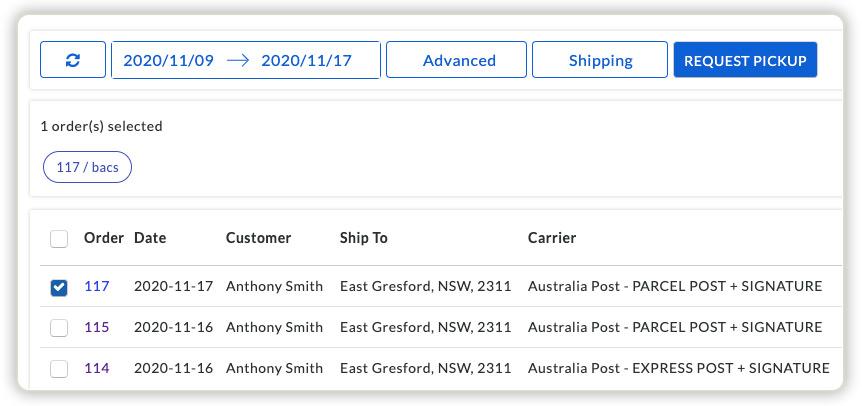 woocommerce-australia-post-pickup-request