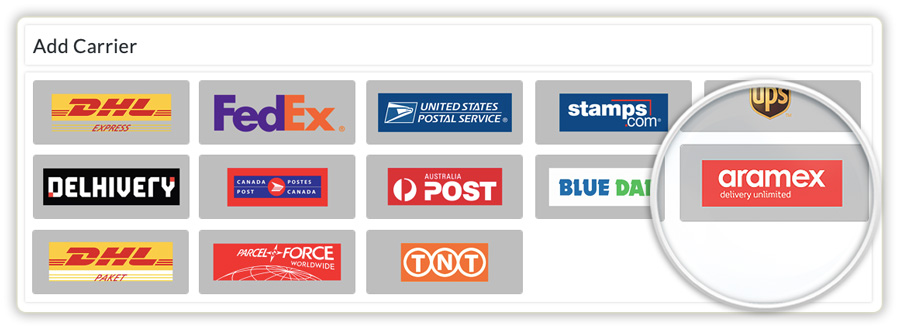 add-aramex-as-the-shipping-carrier