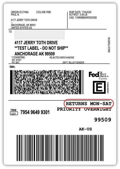 FedEx-label-for-Saturday-returns