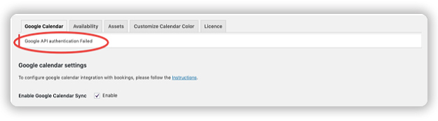 Google-API-authentication-failed