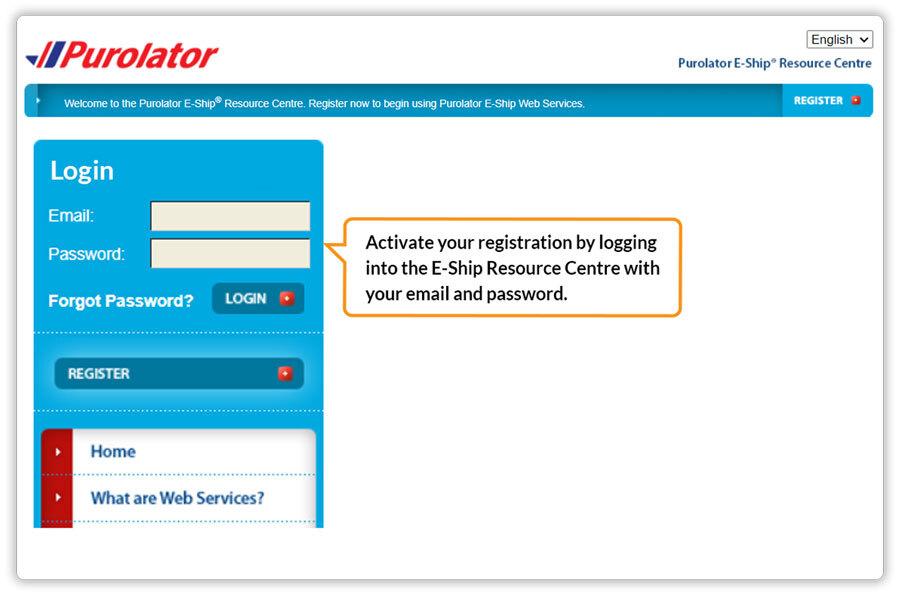 Purolator-activation
