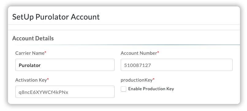 Connect Purolator account