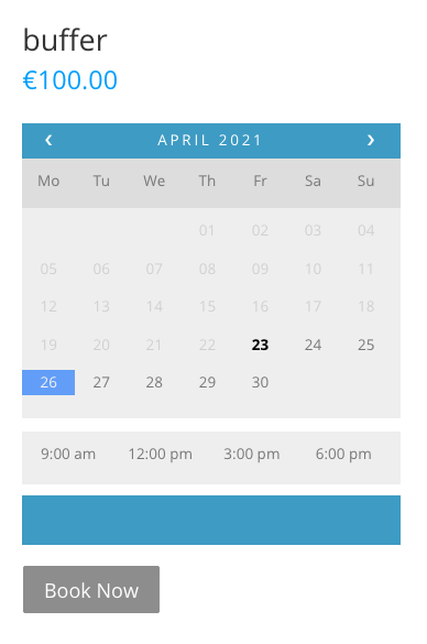 Set up Buffer Time in WooCommerce Bookings and Appointments