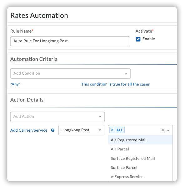 Hongkong post rates automation