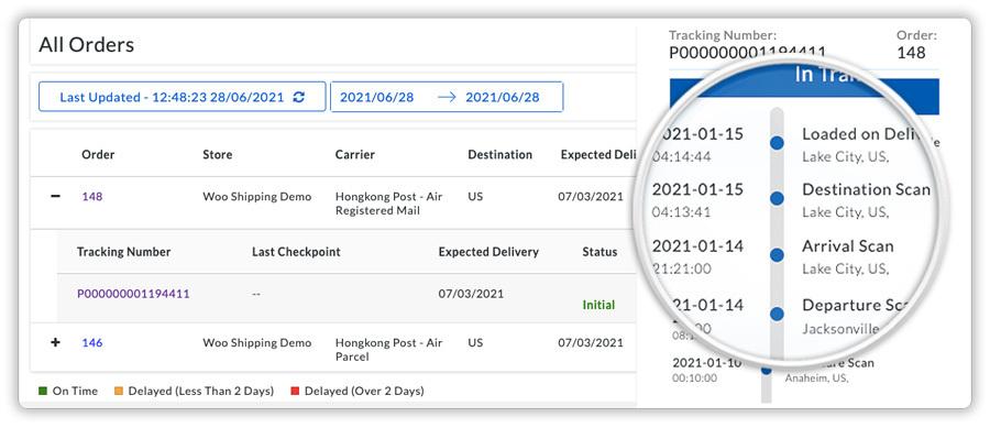 live tracking for hongkong post shipment