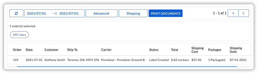 purlator-label-printing