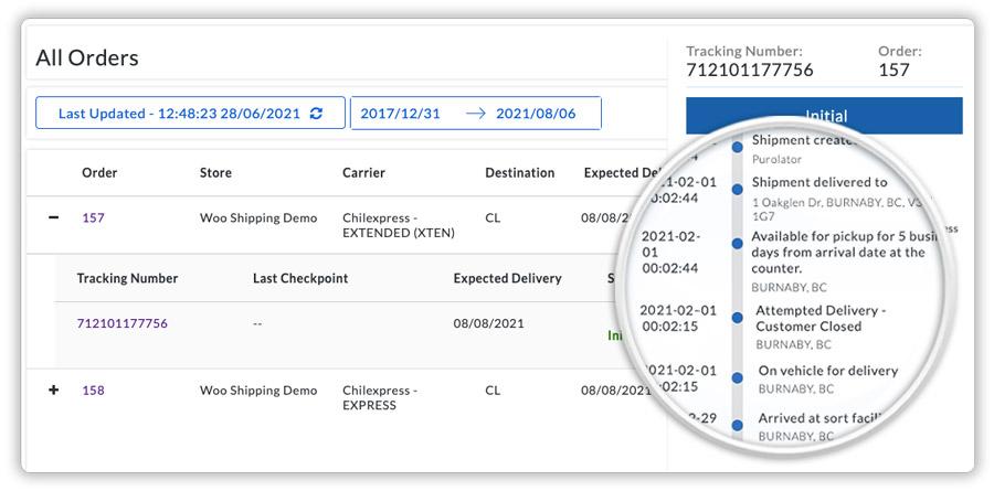 chilexpress-order-on-woocommerce-shipment-tracking-dashboard