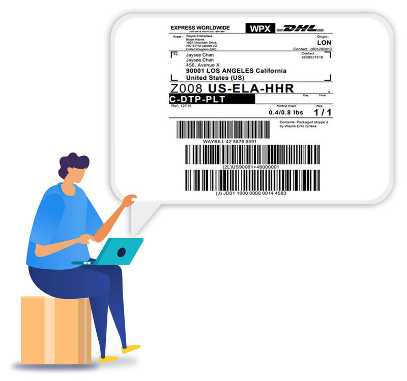 Blue-Dart-Shipping-Label